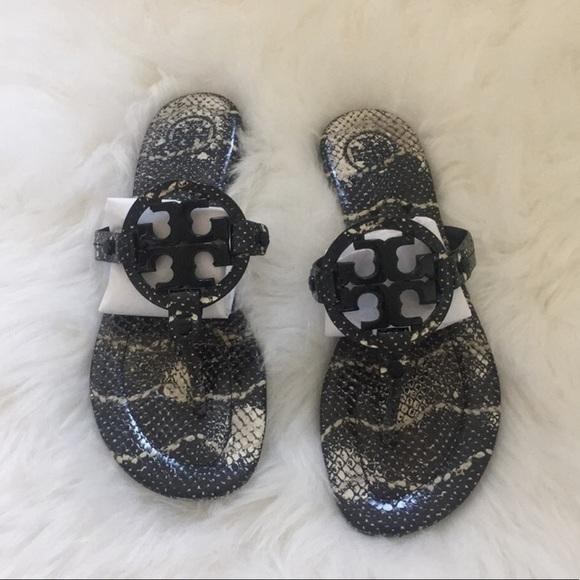 b42a2055f Tory Burch Snake Skin Miller Sandals 8.5. M 5a88f7c95512fd70d1a0e64e